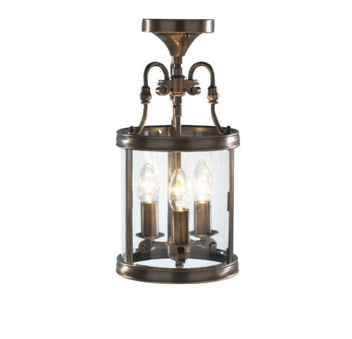 Lambeth 3-light Antique Brass Ceiling Light LAM0375 (035742)